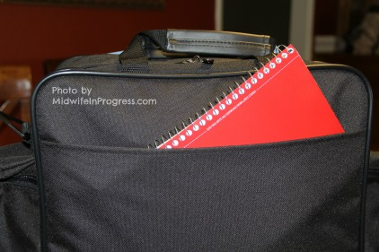 Front pocket with notebook