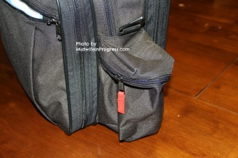 Side sharps pouch